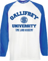 GALLIFREY UNIVERSITY BASEBALL - INSPIRED BY DAVID TENNANT DR.WHO